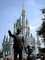 Statue of Walt Disney and Mickey at the Magic Kingdom, Summer '03